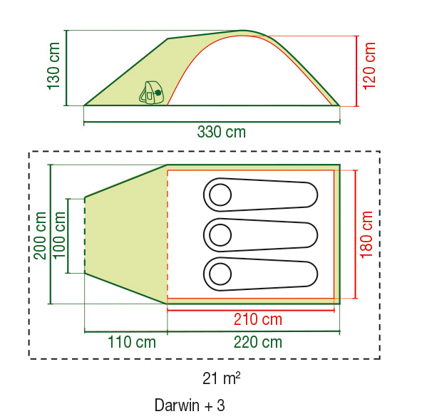 Zelt Oregon 3 120 210 180 Cm : Coleman darwin plus túrasátor kemping sátor mindent