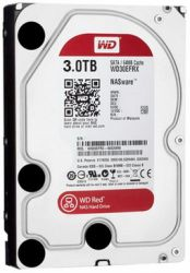 Western Digital 3000GB S-ATA III RED winchester