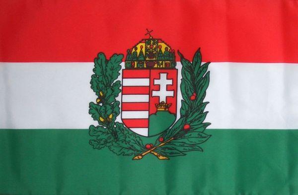 f055eba0e1 Magyar címeres zászló olajággal (EU-21-A) 90 x 150 cm | Zászlók és ...